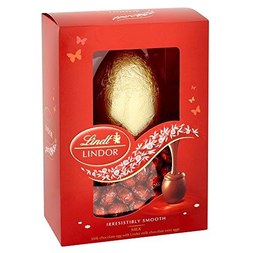 Lindt Lindor Milchschokolade Ei mit Lindor Milchschokolade Mini Eier 215g
