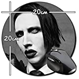 Marilyn Manson B Tapis De Souris Ronde Round Mousepad PC