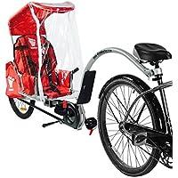 Weehoo IGO Clima toldo Remolque Bicicleta de Adulto de los niños, Rojo, M