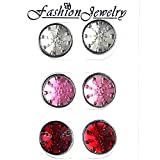 Total Deal Strong Magnetic Red Brooch Pins for Saree, Pallu, Hijab, Scarves for Women - Set of 12 Pairs