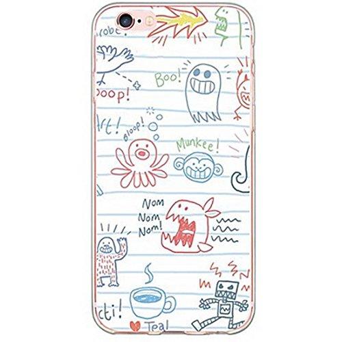 SecondDromi Spaß-Persönlichkeits-Kind Graffiti weich (TPU) hülle für iPhone 5S,für iPhone SE,Mehrfarbig -