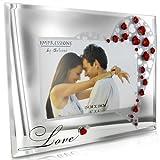 Impressions Cadre Photo en Verre avec Cristaux Love 15,2x 10,2cm par Juliana Collection