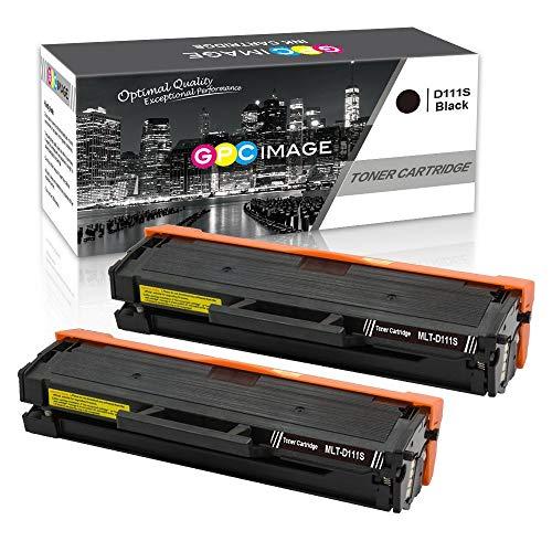 GPC Image D111S Kompatible Toner als Ersatz für Samsung MLT-D111S für Xpress SL M2070FW M2026W M2070W M2026 M2022W M2070 M2022 M2020 M2020W M2021 M2071 M2070F M2071FH M2021W M2071W (Schwarz,2er-Pack) - Samsung 2er-pack
