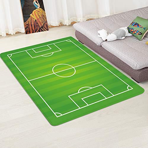 XuBa - Alfombra Antideslizante diseño Campo fútbol