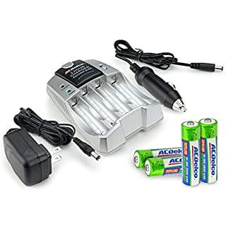 ACDelco Quick Charger Standard Battery Charger for AA and AAA Rechargeable Batteries