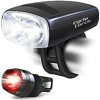 Cycle-Torcia Night Owl-Luce per bicicletta, ricaricabile tramite USB Urban Commuter-Set di luci per bicicletta, luce brillante incluse, compatibile con bici da montagna, da strada e biciclette per bambini & City & visibilità per aumentare la sicurezza - Montagna Della Bici Della Bicicletta