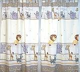 Vorhänge mit Schlaufen für Baby Kinder Kinderzimmer Safari Eule Sterne D25