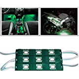 Vheelocityin 9 LED Custom Cuttable Bike and Car Light for Interior and Exterior (Green)