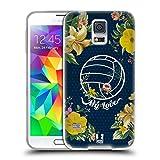 Head Case Designs Volleyball Blüte Blumen Und Sport Soft Gel Hülle für Samsung Galaxy S5 / S5 Neo