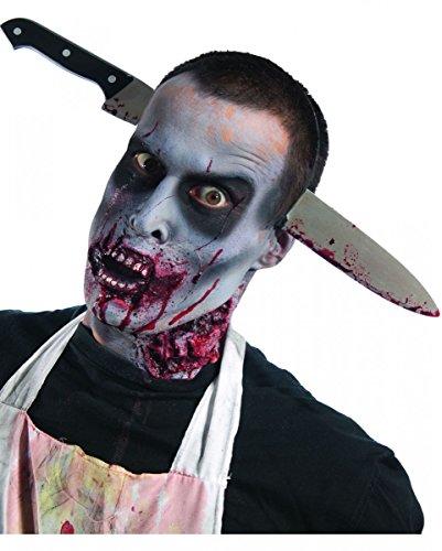 Küchenmesser Blutige (Blutiges Zombie Küchenmesser Kopfschmuck)
