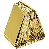 Somine Manta Hoja de Supervivencia Emergencia Impermeable (Paquete de 5), Talla Grande:210 X160cm, Color:Dorado