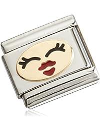 Nomination Unisex FUN Composable Classic FUN 1(femenina Smiley) Acero Inoxidable parcialmente dorado esmalte 03024325