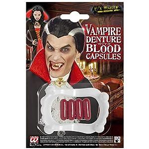 WIDMANN Dientes de vampiro de PVC con cápsulas de sangre