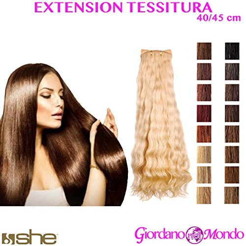 Extension capelli veri 100% tessitura mossi 40/45 cm she (varie colorazioni)