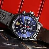 Orologio da uomo con cinturino in pelle marrone, Scuderia Ferrari 0830435