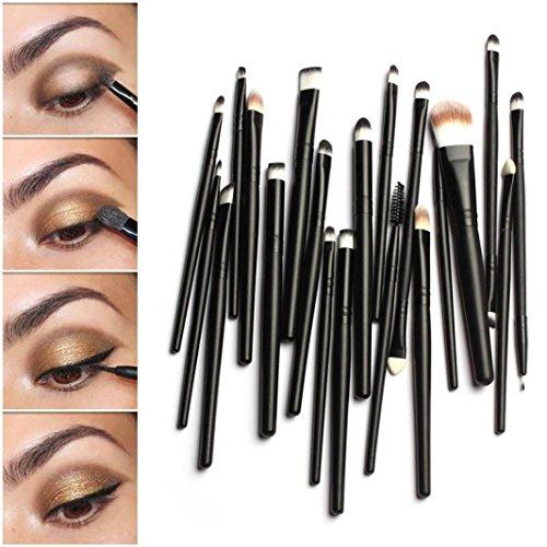 LONUPAZZ Kit De Pinceau Maquillage 20pcs Pinceaux fard à paupières Eyeliner pinceau