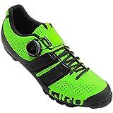 Giro Code Techlace MTB, Zapatos de Bicicleta de montaña para Hombre, (Lime/Black 000), 44.5 EU