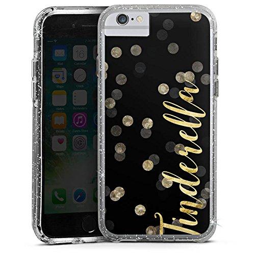Apple iPhone 6 Plus Bumper Hülle Bumper Case Glitzer Hülle Tinderella Tinder Glitzer Bumper Case Glitzer silber