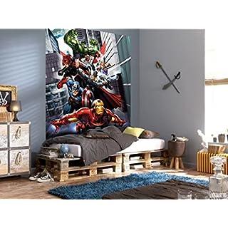 AG DESIGN Marvel Avengers, Paper photomural, 180x202 cm-2 Parts, Multi-Colour, 0.1 x 180 x 202 cm