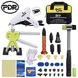 PDR Auto Dent Abzieher, Dent Repair Lifter und Kurz T Auto Body Dellenlifter Ausbeulwerkzeug mit 21pcs Taben LED Light Hot Gl