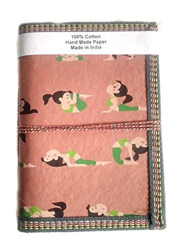 Geschenk hand made Papier bedruckt Yoga Girl gelb elegant Tagebuch Blanko Diaries Pocket Planer Weihnachtsgeschenk für Männer & Frauen Traditionelle Diary