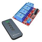 MagiDeal 4 Kanal Drahtlos Empfänger Modul Relais Modul Board + 4 Tasten Fernbedienung Schalter 12V - Ultradünne