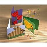 Yuncai Tipo Caterpillar Gatti Tiragraffi Cartone Resistente allUsura Confortevole Carta Ondulata Giocattolo Divano Verde