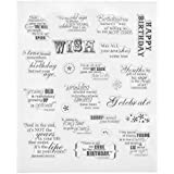 Kesheng Clear Stamps LOVE for Card Making DIY Craft Scrapbooking (Birthday)