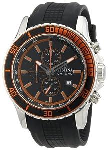 Reloj Festina F16561/3 de cuarzo para hombre con correa de caucho, color negro de Festina