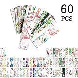 Flamingo Lesezeichen für Frauen Mädchen, inspirierende Zitate Blätter Blumen Buch Marker Karten für Kinder Kinder Student (60 Pack)