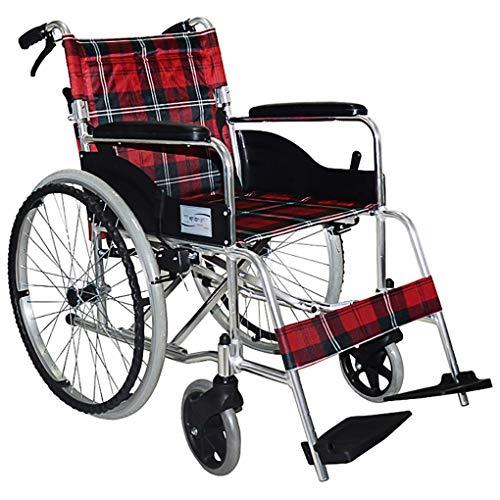 Y-L Rollstuhl Selbstfahrender Rollstuhl Tragbarer Kellner Schiebt Abnehmbare Aluminiumlegierung Leichte Faltbare Transporthilfe Gehhilfen