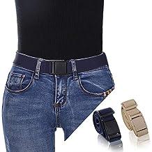 Kajeer Femmes Boucle Élastique Invisible Ceinture - Étendue Plastique Boucle  Taille Ceinture Convient jeans pour Unisexe f9141114391