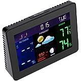 Magideal Digital LCD Wireless Barometer Home Alarm Clock Weather Calendar Display-EU