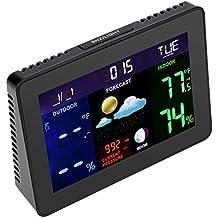 LCD Digital Barómetro Inalámbrica de Alarma Calendario Tiempo Visualización UE Hogar