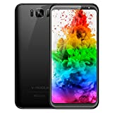 Telefono Movil,V Mobile S8 5.8 Pouce 16GB ROM 8MP+5MP Cámara Doble SIM 2800mAh Batterie Android 7.0 4G Smartphone Baratos Libres (Negro)