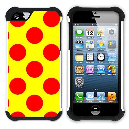 Graphic4You Regenbogen Punktmuster Tupfen Muster Hart + Weiche Kratzfeste Hülle Case Schale Tasche Schutzhülle für Apple iPhone SE / 5 / 5S Design #2