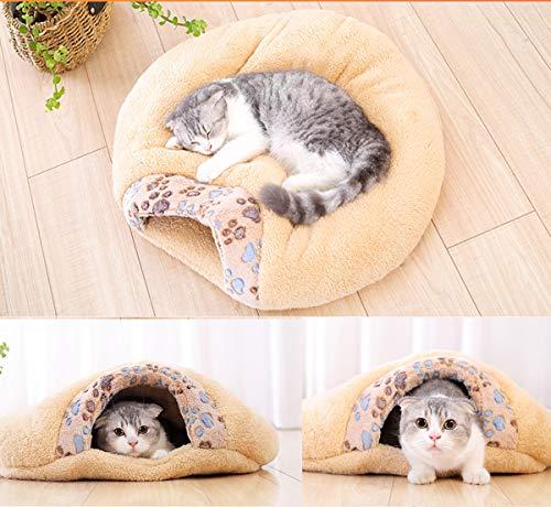 MiLuck Pet Katzenbett Katze Schlafsack Weich Warm Winddicht Wasserdichte Haustierbett House für Hund Katze Kätzchen Indoor Outdoor