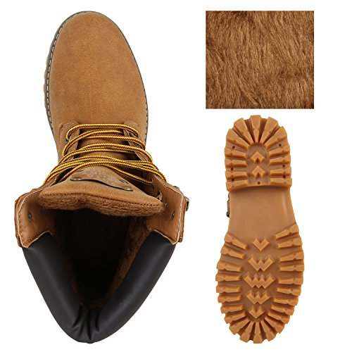 UNISEX Gefüttert Damen Herren Worker Boots Outdoor Schuhe Profil Sohle Hellbraun