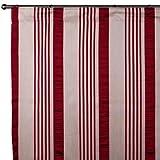 Madura 564–Cortina con cortina banda Castilla Rojo Hot 145x 280cm