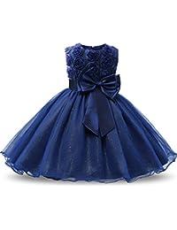 Vestido De Fiesta Nina Azul Nueva Moda Mundial 2019