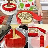 4 PCS La magia del molde de la torta del silicón DIY de cuece al horno el molde de las mercancías de la torta de la serpiente Cake (Rojo)