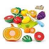 plato de frutas, Koly 20PC corte fruta vegetal pretende jugar juguete de los niños