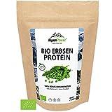 ALPENPOWER | BIO ERBSENPROTEIN | Ohne Zusatzstoffe | 100% reines Erbsenprotein-Isolat | Hochwertiges Eiweiß | Vegan | Vielseitig anwendbar | Low Carb | Organic Pea Protein | 600g