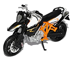 KTM 990 Supermoto R Weiss Schwarz Orange 1/18 Bburago Burago Modellmotorrad Modell Motorrad