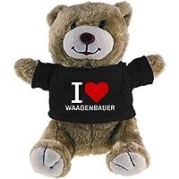 Multifanshop Kuscheltier Bär Classic I Love Waagenbauer beige - Lustig Witzig Sprüche Party Stofftier Püschtier