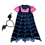 Lee Little Angel 2018 Halloween Chica Vampiro Caricatura Princesa Vestido (150, Vampiro)
