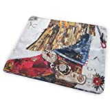 Kotdeqay Portable Changing Baby Diaper Pad, Pad Baby, Soft Urine Pads Absorbent Washable Mattress Change Mat for Infant - Artistic Texas Cowgirl Boot(65x80cm)