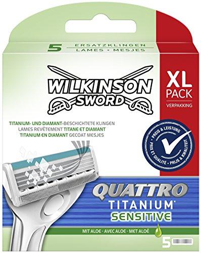 Wilkinson Sword Quattro Titanium - Cargador 5 Recambios