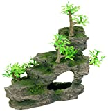 Trixie 8852 Felsentreppe mit Pflanzen, 19 cm