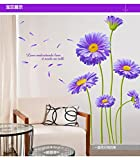 Wandaufkleber Hauptpflanzechrysantheme Wandaufkleber, dekorative Wandaufkleber der Fernsehhintergrundwand 203 × 145cm